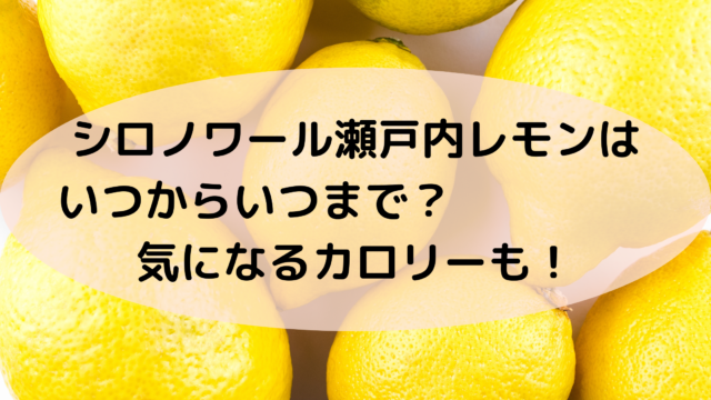 瀬戸内レモンシロノワール
